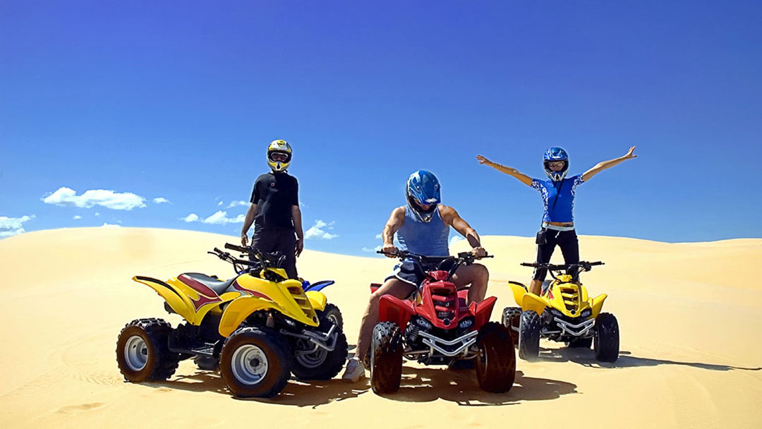 ATV Riders Having a Sand Blast in the Pismo Dunes
